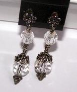 Bali Sterling Crystal Post Earrings Old Fashion... - $9.99