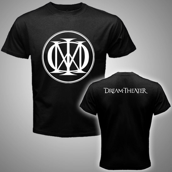 Dream Theater Logo Rock metal band tee Mens Black T Shirt  3XL Hot
