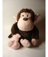 Justice for Girls Monkey Pink Brown Plush Stuff... - $24.97