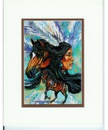Vision of the Mustang by Jan Taylor Native Amer... - $19.79