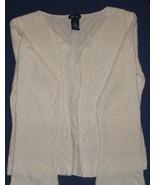 Sz  XL  Woman's White Knit Top by SO...GSJC   - $5.99