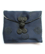 Miniature Royal Blue Silk Oriental Embroidered ... - $4.94
