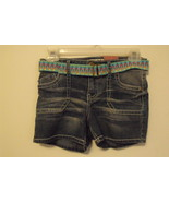 Girls Mudd NWT Denim Blue Belted Shorts Size 12 - $24.00