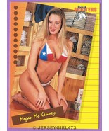 Megan McKenney 1995 Hooters Card #73 - $1.00