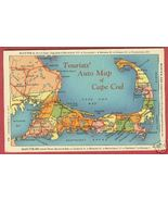 CAPE COD MA Rt 6 - 28 Auto Map North South Shor... - $6.50