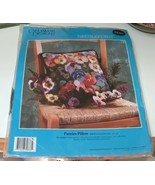 Candamar Designs Pansies Pillow Needlepoint Kit - $19.99