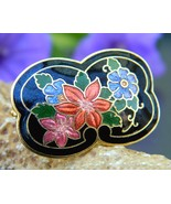 Vintage_cloisonne_black_enamel_scarf_ring_slide_multicolor_flowers_thumbtall