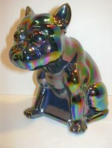 AMETHYST PURPLE CARNIVAL GLASS BULLDOG DOORSTOP... - $145.44