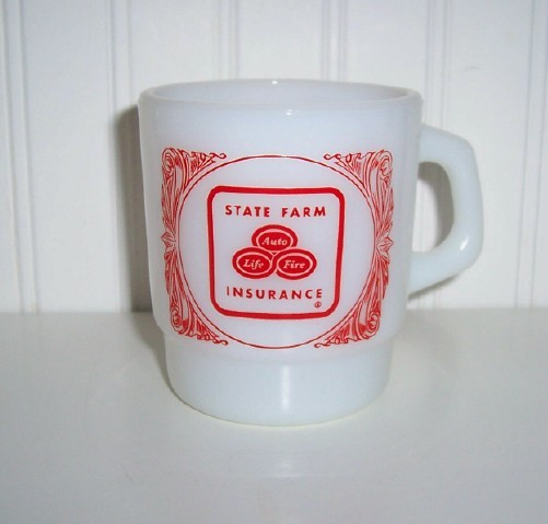 FireKing State Farm Insurance Advertising Mug Cup
