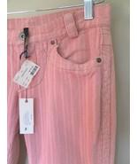 POLECI corduroy JEANS pants PINK bootcut CORD s... - $100.02