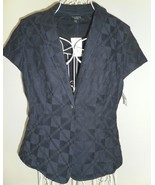 Talbots blazer NAVY new $89 cotton TEXTURE embr... - $60.10
