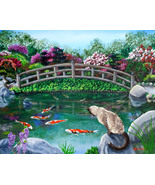 Original Painting Balinese Cat Japanese Garden ... - $899.00