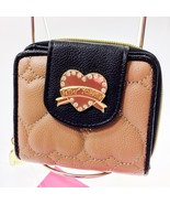 Betsey Johnson French Hearts & Banners Brown Bl... - $29.69
