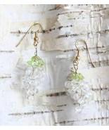 Judy Strobel Ice Wine Grape Earrings clear quar... - $20.00