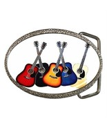GUITARS ROCK N' ROLL BAND COLORFUL BELT BUCKLE ... - $12.99