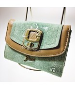 Guess Wallet Multi Beige Aqua Green Teal Trifol... - $39.59
