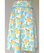 Lilly Pulitzer skirt A-LINE fruit YELLOW lime A... - $30.10