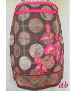 Etcetera SKIRT pencil CIRCLES embroidery FLOWER... - $50.04