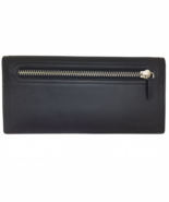 NIB $670 Givenchy Black Leather Continental Lon... - $390.00