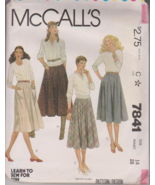 McCalls 7841 Misses Skirt Sewing Pattern Size 1... - $5.00