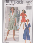 Butterick 6050 Misses Top, Split Skirt Sewing P... - $6.00