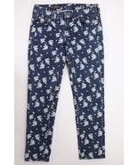 J. Crew Cropped Matchstick Indigo Floral Jeans 25 - $34.95