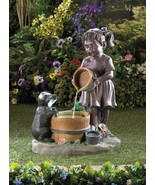 Water Fountain Child Pouring A Bucket - $160.00