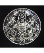 Star of David Prescut Glass Bowl clear Footed E... - $54.44