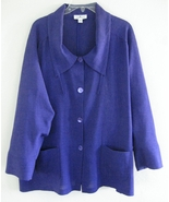 Purple swing jacket Pure silk Loose XS E Emmell... - $39.99