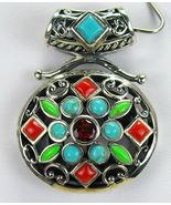 Vintage Southwestern Turquoise with Red Coral +... - $146.88