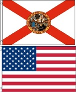 2 Pack Florida & USA Flags 2 x 3 Ft  Boat Ponto... - $11.65