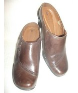 Earth Spirit Brown Leather EMMA Clog Mule Women... - $17.80