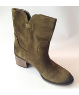 NEW Franco Sarto Distressed Suede Leather Heele... - $79.19
