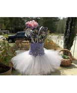 NEWBORN BABY GIRL TUTU DRESS WITH HEADBAND - $19.00