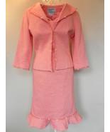 Teri Jon DRESS jacket SUIT sheath CORAL cotton ... - $80.02