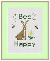 Bee Happy Holmsey Hare Daisy cross stitch chart... - $7.00