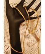 Vintage 1980s Matte Goldtone Multi-Textured Cha... - $13.00