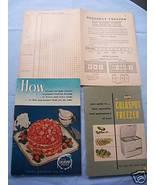 '52 Sears Coldspot Freezer Manual-Food Inventor... - $5.99