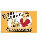 Free Beer Tomorrow  Flag 3 x 5 Ft Party Bar Cab... - $7.91