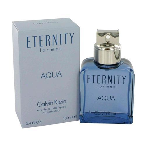 Eternity Aqua By Calvin Klein Eau De Toilette Spray 3.4 Oz For Men