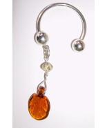 Ball Key Ring Handmade Italian Moretti Glass La... - $6.00