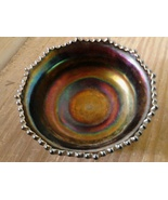 Antique OOAK Carnival Glass Offering Bowl Recha... - $45.00