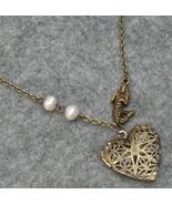Handmade FILLIGREE HEART LOCKET PENDANT & MERMA... - $14.99