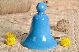 Blue ceramic bell - $4.24