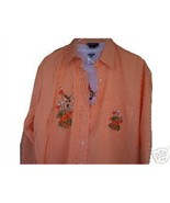 LAS OLAS L/S SHIRT+TSHIRT- ORANGE BABY GINGHAM ... - $32.62