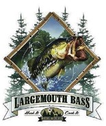 Large Mouth Bass  Fishing  Tshirt    Sizes/Colors - $12.82 - $16.78