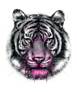 Neon White Tiger  Tshirt    Sizes/Colors - $12.82 - $16.78