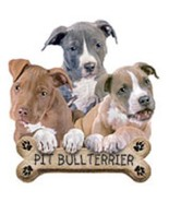 Pit Bull Terrier Pups   Dog Tshirt   Sizes / Co... - $12.82 - $16.78