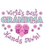 Worlds Best Grandma  Hands Down  Sweatshirt    ... - $19.70 - $27.62