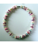 1970s Vintage Hawaiian Puka Shell Chip Necklace... - $12.86